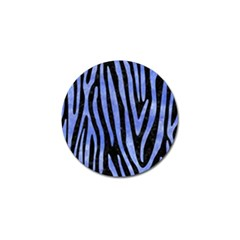Skin4 Black Marble & Blue Watercolor (r) Golf Ball Marker by trendistuff