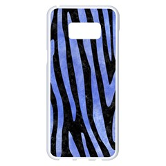 Skin4 Black Marble & Blue Watercolor (r) Samsung Galaxy S8 Plus White Seamless Case by trendistuff