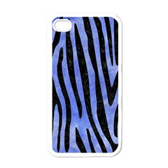 Skin4 Black Marble & Blue Watercolor Apple Iphone 4 Case (white) by trendistuff