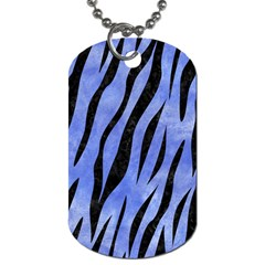 Skin3 Black Marble & Blue Watercolor (r) Dog Tag (one Side) by trendistuff