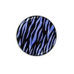Skin3 Black Marble & Blue Watercolor Hat Clip Ball Marker (10 Pack) by trendistuff