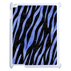 Skin3 Black Marble & Blue Watercolor Apple Ipad 2 Case (white) by trendistuff