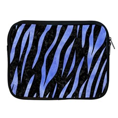 Skin3 Black Marble & Blue Watercolor Apple Ipad Zipper Case by trendistuff