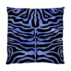 Skin2 Black Marble & Blue Watercolor Standard Cushion Case (one Side) by trendistuff