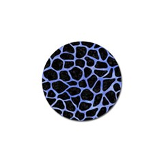 Skin1 Black Marble & Blue Watercolor (r) Golf Ball Marker (10 Pack) by trendistuff