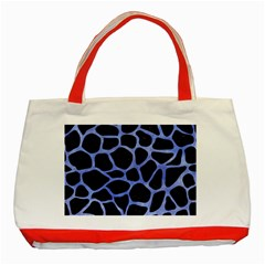 Skin1 Black Marble & Blue Watercolor (r) Classic Tote Bag (red) by trendistuff