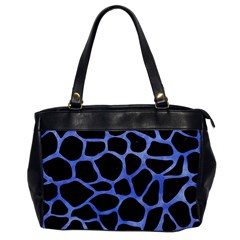 Skin1 Black Marble & Blue Watercolor (r) Oversize Office Handbag by trendistuff