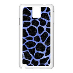 Skin1 Black Marble & Blue Watercolor (r) Samsung Galaxy Note 3 N9005 Case (white)