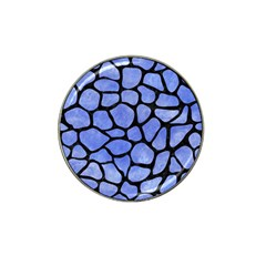 Skin1 Black Marble & Blue Watercolor Hat Clip Ball Marker (10 Pack) by trendistuff