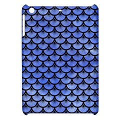 Scales3 Black Marble & Blue Watercolor (r) Apple Ipad Mini Hardshell Case by trendistuff