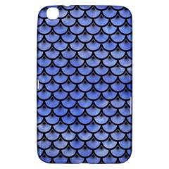 Scales3 Black Marble & Blue Watercolor (r) Samsung Galaxy Tab 3 (8 ) T3100 Hardshell Case  by trendistuff