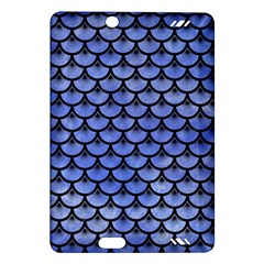 Scales3 Black Marble & Blue Watercolor (r) Amazon Kindle Fire Hd (2013) Hardshell Case by trendistuff