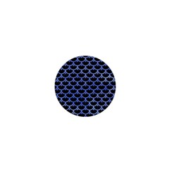 Scales3 Black Marble & Blue Watercolor 1  Mini Magnet by trendistuff