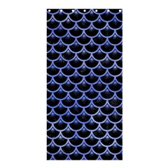 Scales3 Black Marble & Blue Watercolor Shower Curtain 36  X 72  (stall) by trendistuff