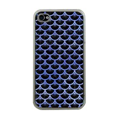 Scales3 Black Marble & Blue Watercolor Apple Iphone 4 Case (clear) by trendistuff