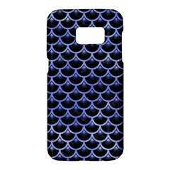 Scales3 Black Marble & Blue Watercolor Samsung Galaxy S7 Hardshell Case  by trendistuff
