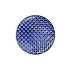 Scales2 Black Marble & Blue Watercolor (r) Hat Clip Ball Marker (4 Pack) by trendistuff