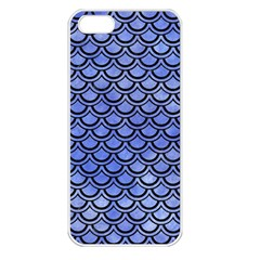 Scales2 Black Marble & Blue Watercolor (r) Apple Iphone 5 Seamless Case (white) by trendistuff