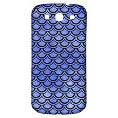 Scales2 Black Marble & Blue Watercolor (r) Samsung Galaxy S3 S Iii Classic Hardshell Back Case by trendistuff