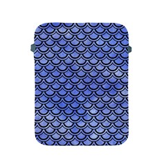 Scales2 Black Marble & Blue Watercolor (r) Apple Ipad 2/3/4 Protective Soft Case by trendistuff