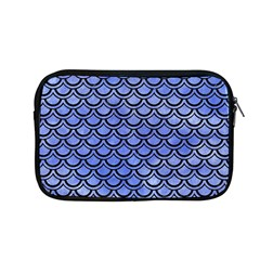 Scales2 Black Marble & Blue Watercolor (r) Apple Macbook Pro 13  Zipper Case by trendistuff