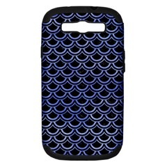Scales2 Black Marble & Blue Watercolor Samsung Galaxy S Iii Hardshell Case (pc+silicone) by trendistuff