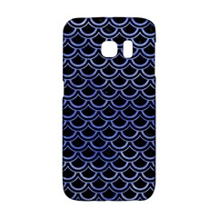 Scales2 Black Marble & Blue Watercolor Samsung Galaxy S6 Edge Hardshell Case by trendistuff
