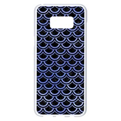Scales2 Black Marble & Blue Watercolor Samsung Galaxy S8 Plus White Seamless Case by trendistuff