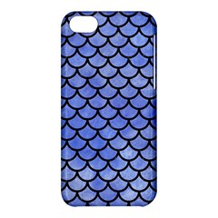 Scales1 Black Marble & Blue Watercolor (r) Apple Iphone 5c Hardshell Case by trendistuff