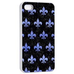 Royal1 Black Marble & Blue Watercolor (r) Apple Iphone 4/4s Seamless Case (white) by trendistuff