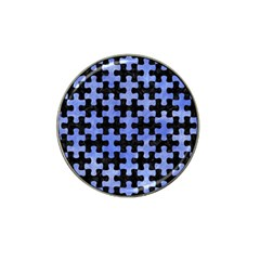 Puzzle1 Black Marble & Blue Watercolor Hat Clip Ball Marker (4 Pack) by trendistuff