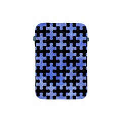 Puzzle1 Black Marble & Blue Watercolor Apple Ipad Mini Protective Soft Case by trendistuff