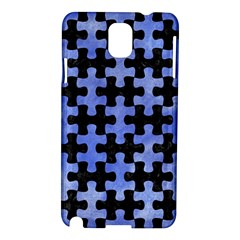 Puzzle1 Black Marble & Blue Watercolor Samsung Galaxy Note 3 N9005 Hardshell Case by trendistuff
