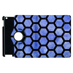 Hexagon2 Black Marble & Blue Watercolor (r) Apple Ipad 3/4 Flip 360 Case by trendistuff