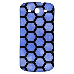 Hexagon2 Black Marble & Blue Watercolor (r) Samsung Galaxy S3 S Iii Classic Hardshell Back Case by trendistuff