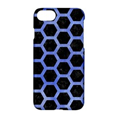 Hexagon2 Black Marble & Blue Watercolor Apple Iphone 7 Hardshell Case by trendistuff