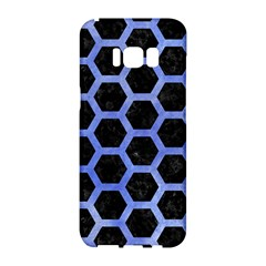 Hexagon2 Black Marble & Blue Watercolor Samsung Galaxy S8 Hardshell Case  by trendistuff