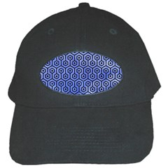 Hexagon1 Black Marble & Blue Watercolor (r) Black Cap by trendistuff
