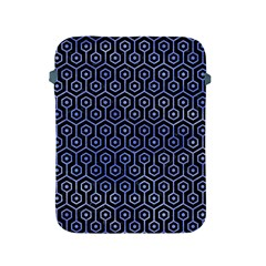 Hexagon1 Black Marble & Blue Watercolor Apple Ipad 2/3/4 Protective Soft Case by trendistuff