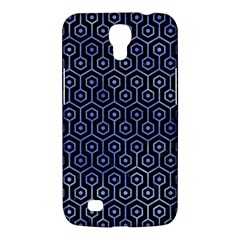 Hexagon1 Black Marble & Blue Watercolor Samsung Galaxy Mega 6 3  I9200 Hardshell Case by trendistuff