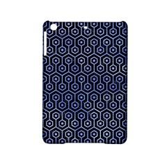Hexagon1 Black Marble & Blue Watercolor Apple Ipad Mini 2 Hardshell Case by trendistuff