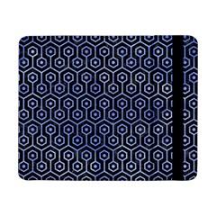 Hexagon1 Black Marble & Blue Watercolor Samsung Galaxy Tab Pro 8 4  Flip Case by trendistuff