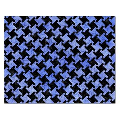 Houndstooth2 Black Marble & Blue Watercolor Jigsaw Puzzle (rectangular) by trendistuff