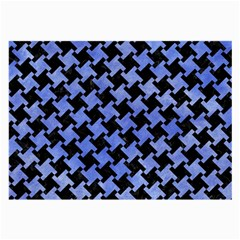 Houndstooth2 Black Marble & Blue Watercolor Large Glasses Cloth by trendistuff