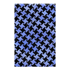 Houndstooth2 Black Marble & Blue Watercolor Shower Curtain 48  X 72  (small) by trendistuff