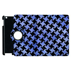 Houndstooth2 Black Marble & Blue Watercolor Apple Ipad 3/4 Flip 360 Case by trendistuff