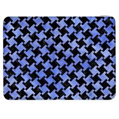 Houndstooth2 Black Marble & Blue Watercolor Samsung Galaxy Tab 7  P1000 Flip Case by trendistuff