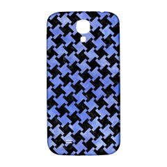Houndstooth2 Black Marble & Blue Watercolor Samsung Galaxy S4 I9500/i9505  Hardshell Back Case by trendistuff