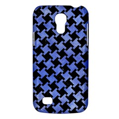 Houndstooth2 Black Marble & Blue Watercolor Samsung Galaxy S4 Mini (gt I9190) Hardshell Case  by trendistuff