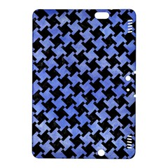Houndstooth2 Black Marble & Blue Watercolor Kindle Fire Hdx 8 9  Hardshell Case by trendistuff